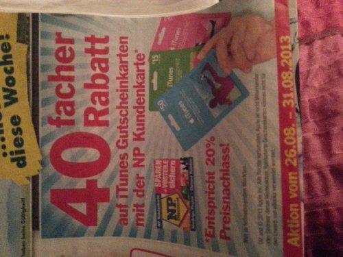 20 % Rabatt auf itunes Karten mit NP Kundenkarte
