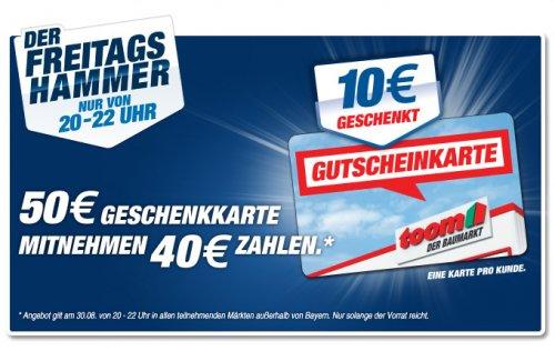 Toom Baumarkt 50€ Geschenkkarte für 40€