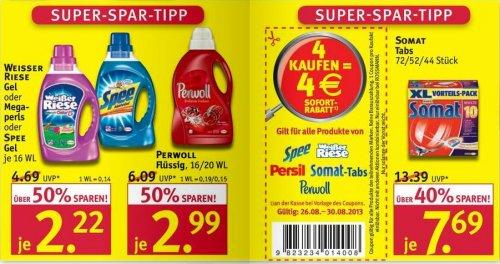 Rossmann: Weisser Riese oder Spee oder Perwoll je 16 WL nur 1,22 €