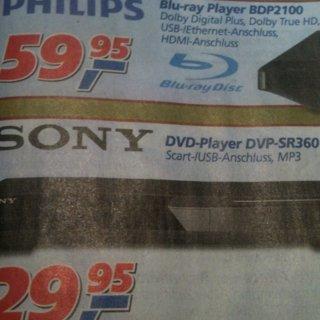 Sony DVP-SR360 für 29,95 @Toom