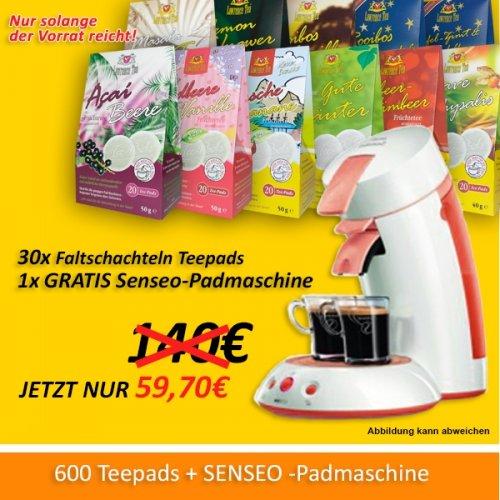 600 Teepads + GRATIS Senseo Padmaschine