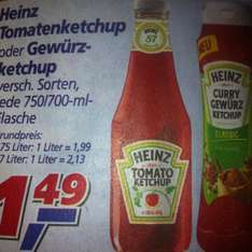 Heinz Tomaten/Gewürzketchup 750/700-ml