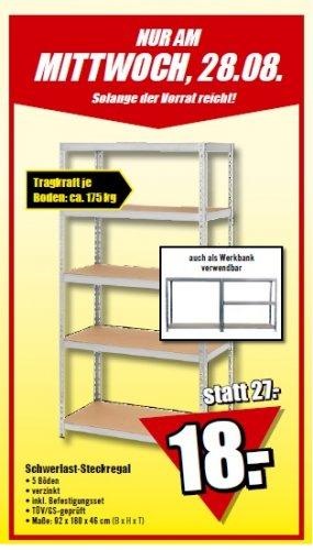 (B1 Discount) Schwerlast-Steckregel  18 € ! (nur am 28.08.13)