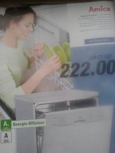 [RATIO] A+ Geschirrspüler Amica GSP 14043 W -->222 EURO