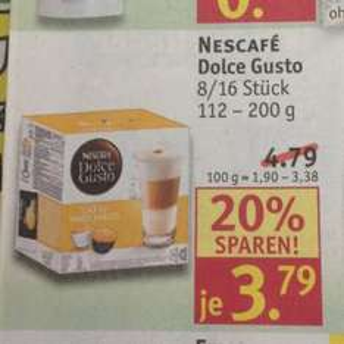 Lokal?/Bundesweit - Osnabrück - Nescafé Dolce Gusto Kapseln (3,79€)