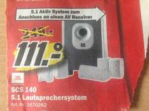 [Lokal MM Mönchengladbach] JBL 5.1 Lautsprechersystem SCS 140
