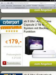 ab 09:00 Uhr beim Cyberport Cybersale: Apple Time Capsule 2TB
