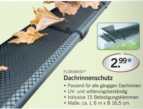 LIDL: Dachrinnenschutz gegen Laubeintrag, Vogelschäden etc.