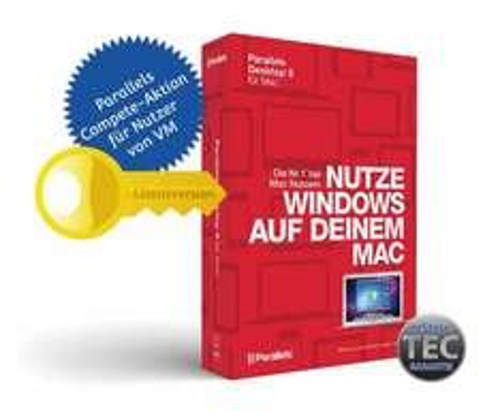Parallels Desktop 9 Compete Voll-Lizenz für 34,95€