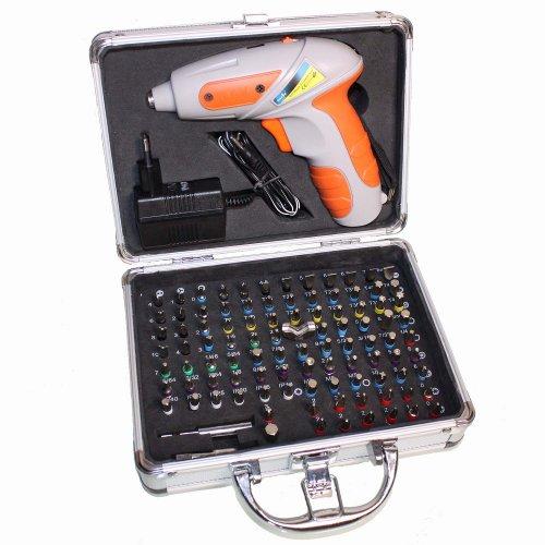 Hanse Tools Akkuschrauber 3,6V Li-ion Lithium + 100 Bits + Alu Koffer  für 25,95€ inkl Versand @ Ebay