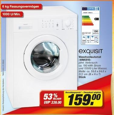 exquisit Waschmachine WM6810 [@toom]