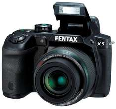 Pentax X-5 All-in-One Digitalkamera (16 Megapixel, 26-fach opt. Zoom, 7,6 cm (3 Zoll) Display, Full HD) schwarz für 168€ @Amazon.uk