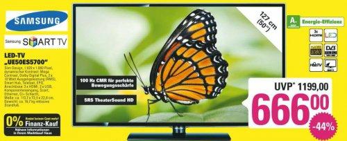 """[Regional] 50"""" Samsung LED-LCD-Smart-TV """"UE50ES5700"""" bei Marktkauf 666€ statt 830€ (Idealo Bestpreis) - Sachsen, Sachen-Anhalt, Thüringen, Franken"""