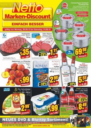 Netto Angebot: Bei Kauf einer Kiste Coca Cola 2 Flaschen gratis!