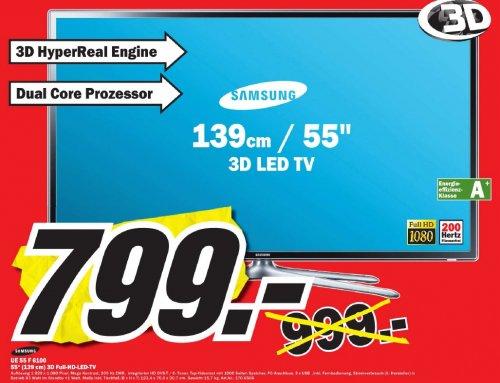 [Lokal] Samsung 3D LED-TV UE55F6100 für 799,- MM Viernheim