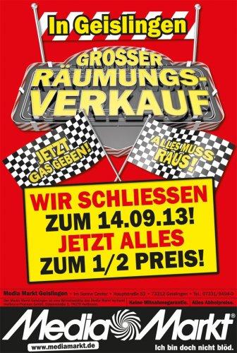 Schließung Media Markt Geislingen (BaWü)