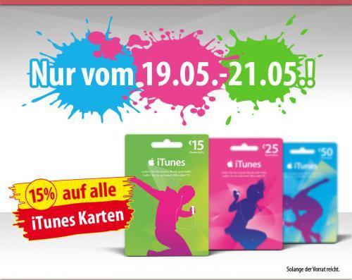 15% auf alle iTunes-Geschenkkarten vom 19.05.-21.05. @PENNY [bundesweit]