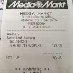 (LOKAL) Kindle Fire HD 16GB Media Markt Bochum Hofstede