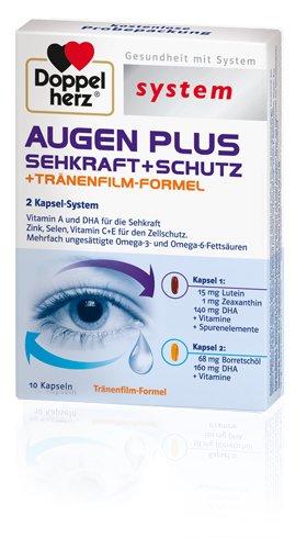 Augen Plus Sehkraft + Schutz + Tränenfilm-Formel Probe