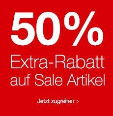 SinnLeffers Sale mit 50% Extra Rabatt auf reduzierte Ware + 10% Newsletter Gutschein