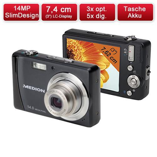 MEDION MD 86276 14MP Slim Digitalkamera für 49,99 €
