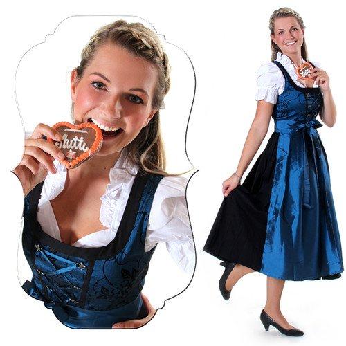 3tlg. Dirndl, Trachtenkleid, für Oktoberfest, nur 39,90 Euro auf ebay