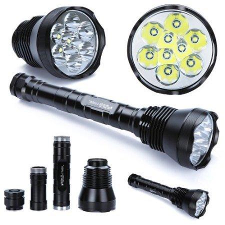 Taschenlampe TrustFire Tr-9T6 mit 11000 (China) Lumen für 64,84€