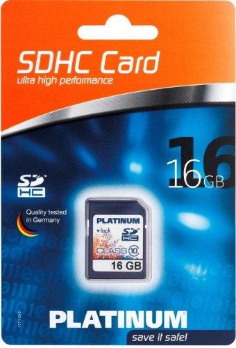 Platinum 16 GB SDHC Speicherkarte Class 10 SD @ebay 9,99