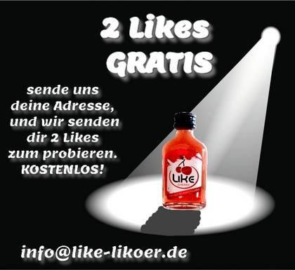 2 Likes (Likörchen) gratis bei Facebook (die ersten 10 000)