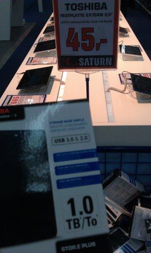 Saturn Frankfurt Skyline Plaza Toshiba 1TB 2,5 Zoll