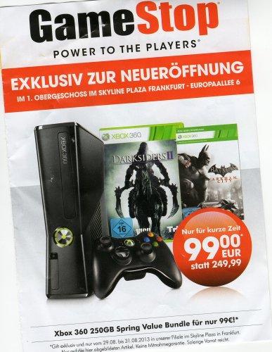 GameStop Frankfurt Xbox 360 250GB +Darksider2+Batman ArkhamCity+Controller