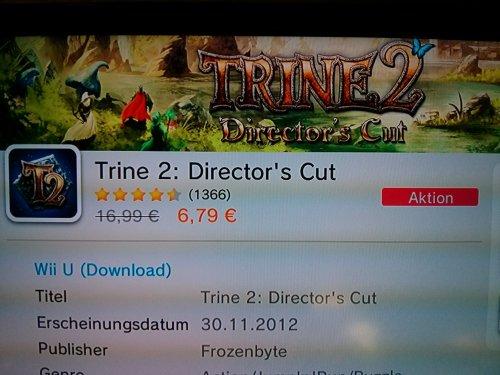 [Wii U] Trine 2 im Nintendo eShop
