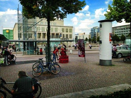 1L gratis Coca-Cola Leipzig - Augustusplatz