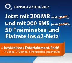 o2 Blue Basic 200 MB / 200 SMS / 50 Minuten / O2-Flat für 9,99 € mtl + Galaxy S3 Mini 29.- € einmalig  @LOGITEL