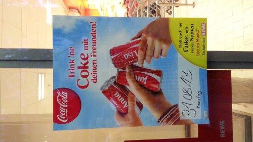 (Lokal MZ) Cola Dose mit deinem Namen