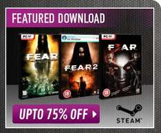 [Steam] F.E.A.R 1-3 + DLC, alle einzeln ab 1,50Pfund @ game.co.uk