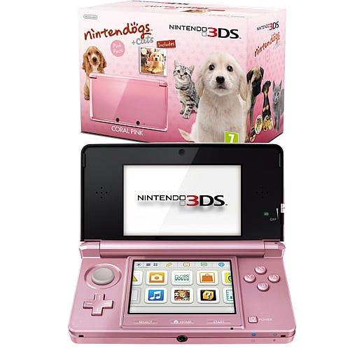 Nintendo 3DS Pink inkl. Nintendogs Retriever, 169,99 Euro kostenloser Versand Karstadt