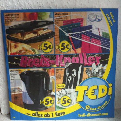 [T€Di] Sandwichtoaster, Wasserkocher, Handmixer u.v.m. für nur 5€ !