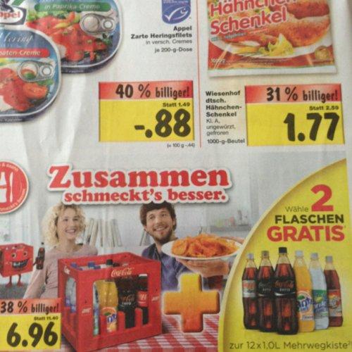 (Lokal Backnang) Kaufland Coca Cola 14x1 Liter