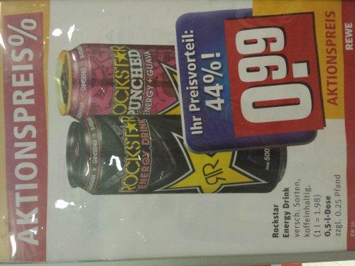 Rewe Bundesweit - Rockstar Energy Drink für 99 Cent / 500ml Dose ab Montag 02. 09. KW 36