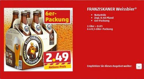 Franziskaner Weißbier Sixpack € 2,49 bei Penny (Nur Süd ?)