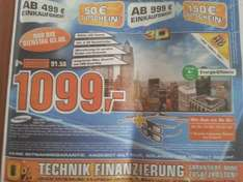 (Lokal) Saturn Göttingen: Samsung UE55F6640 SSX (plus 150 € Gutschein) 1099 €