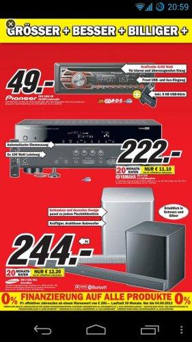 Offline Media Markt Peine: Yamaha RX-V375 für 222 Euro