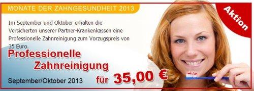 Professionelle Zahnreinigung für 35 EUR + T-Shirt und Überraschung (oder kostenlose Zahnbürste)