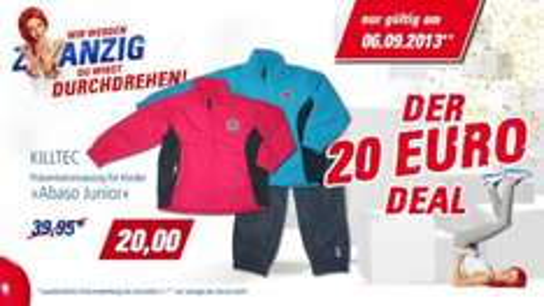 """Killtec Sport-Anzug """"Abaso Jr."""" für Kinder auf nur 20 € reduziert (UVP 39,95 €)"""