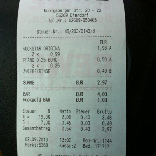 [LOKAL Dierdorf REWE XL] Rockstar Orginal 0,5l 0,99 €
