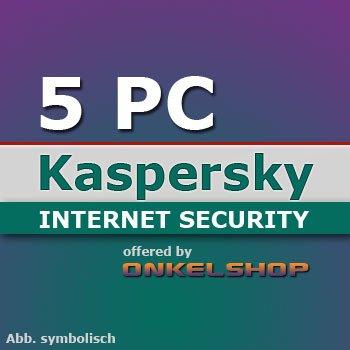 [ebay] Kaspersky Internet Security 5 PCs Lizenzcodes für 1 Jahr für EUR 19,95