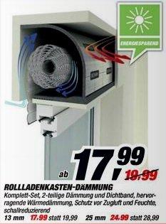 [Hornbach Preisgarantie] Selitherm Rollladenkasten-Dämmung für 16,19 Euro