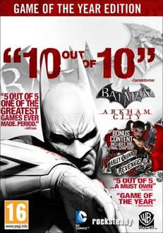 [kein Steam] Batman Arkham City Game of the Year Edition für 6.21€ @ Gamefly