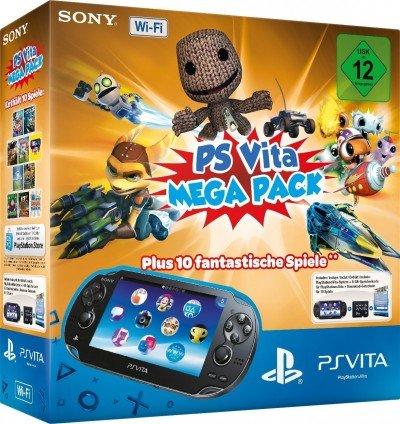 PS Vita MegaPack (Konsole + 8 GB Speicherkarte + 10 DLC Spiele) für 174,99 EUR bei SpieleGrotte